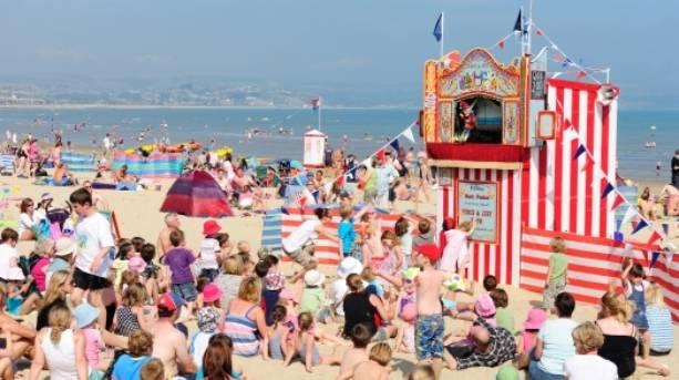 Weymouth's famous Punch & Judy show, Weymouth, Dorset
