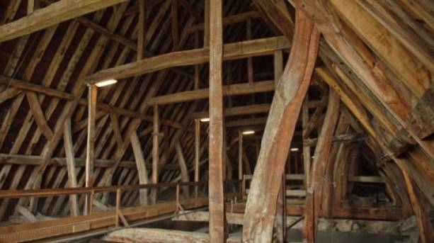 Exploring the medieval roof space