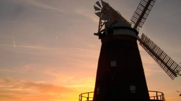 Windmill at sunset in Thaxted