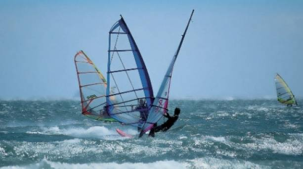 Windsurfing at Portsmouth Watersports Centre