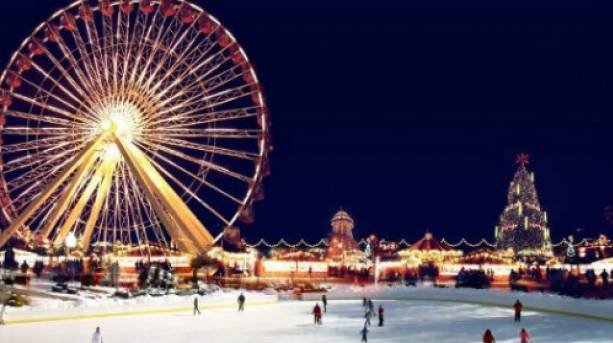 The Winter Wonderland experience in London's Hyde Park from November to January.