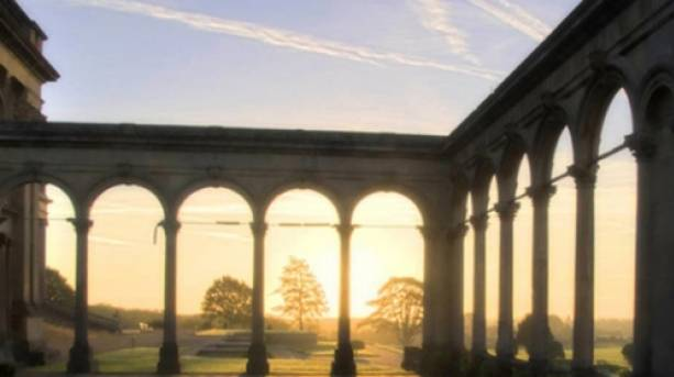 Witley Court at sunset