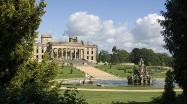 A view of Witley Court and Persus and Andromedia fountain