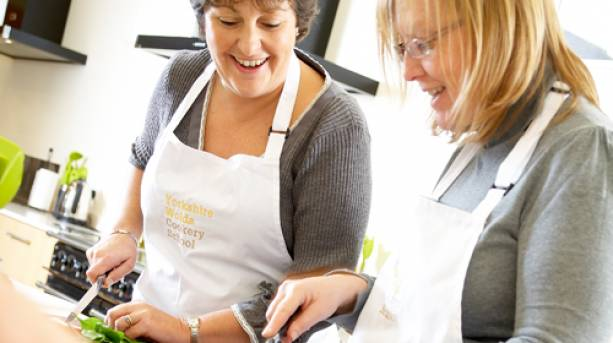 Cookery demonstrations at Wolds Cookery School