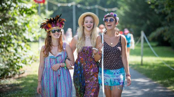 Festivalgoers at WOMAD