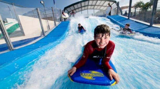 Ride the Woolacombe Wave at Woolacombe Bay Holiday Park