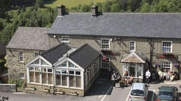 The award-winning four-star Yorkshire Bridge Inn, Bamford
