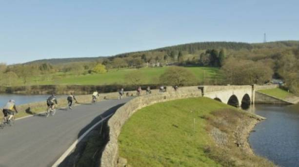 Cycling through beautiful West Yorkshire countryside