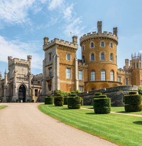 Belvoir Castle in Leicestershire, a key filming location for Netflix's The Crown.