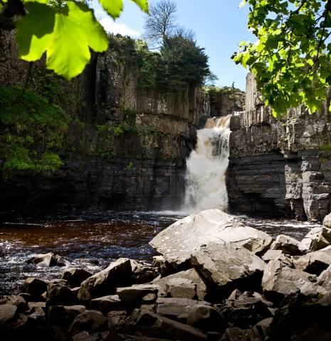 High Force Waterfall in County Durham