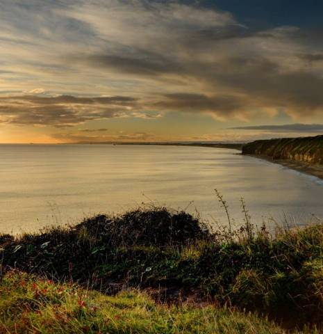 Sunset over Blackhall on the Durham Coast