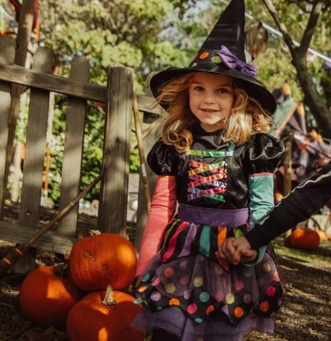 Children dressed in Halloween clothes