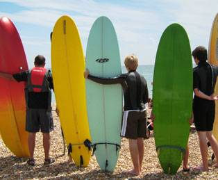 surfing in England