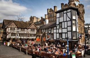 Tudor buildings in Manchester