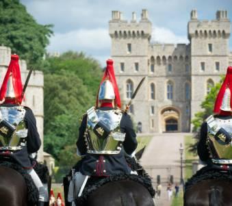 Soldiers on horseback in Windsor