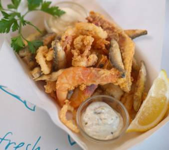 Plymouth battered seafood selection