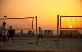 Enjoy beach sports on Brighton beach