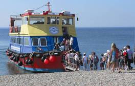 Take a boat trip for the best view of the Jurassic Coast