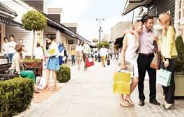 Einkaufen bekannter Markenartikel im Bicester Village