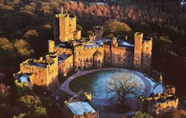 Land Rover driving and falconry fun at Peckforton Castle