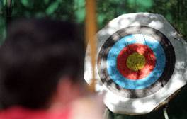 Try your hand at archery and falconry in Sherwood Forest
