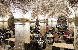 Take tea in a crypt below Trafalgar Square in London