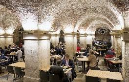 Take tea in a crypt below Trafalgar Square in London