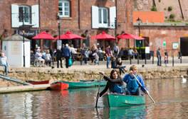 Spend the day touring Exeter's buzzing waterside on foot or bike