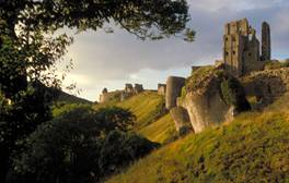 Camp at Corfe Castle
