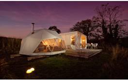 Relax in sustainable style in The Geo Ekopod on Bodmin Moor