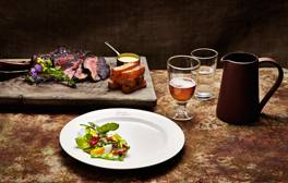 Eat delicious seasonal food at the Wild Rabbit Inn