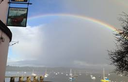 Take in the spectacular view at the Ferry Boat pub