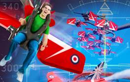 Step into the cockpit of Blackpool's Red Arrow Skyforce ride