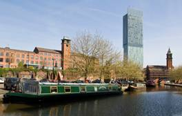 Explore Manchester's canals on a city cruise