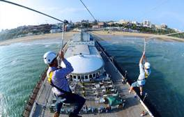 Fly along the world's first pier-to-shore zip wire