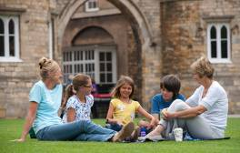 Picnic on the grounds of Lincoln Castle