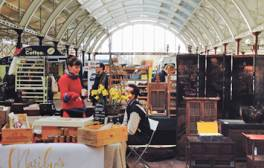 Rummage for antiques in an old railway station