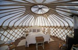 Sleep in a Yurt in the middle of the Peak District