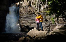 Cool down at High Force waterfall in the Durham Dales
