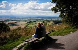 Sehen Sie die beste Aussicht Englands von der Sutton Bank aus.