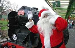 Meet Santa on a steam train