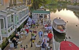 Enjoy elegant riverside dining at The Folly