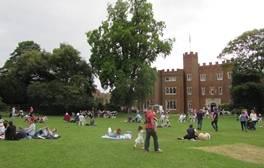 Enjoy a brass band concert at Hertford Castle