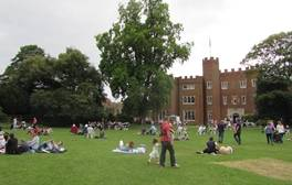 Enjoy a brass band concert at Hertford Castle