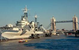 Explore the historic warship, HMS Belfast