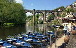 Cross the great viaduct to historic Knaresborough