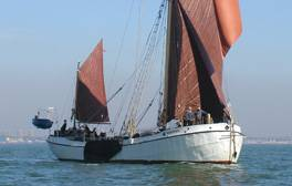 Spend a weekend away on a historic sailing barge