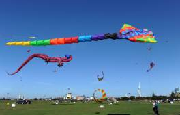 Skies are filled with colour at the Portsmouth International Kite Festival