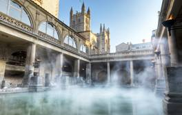 Explore The Roman Baths at Night