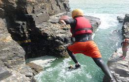 Get Active and go Coasteering